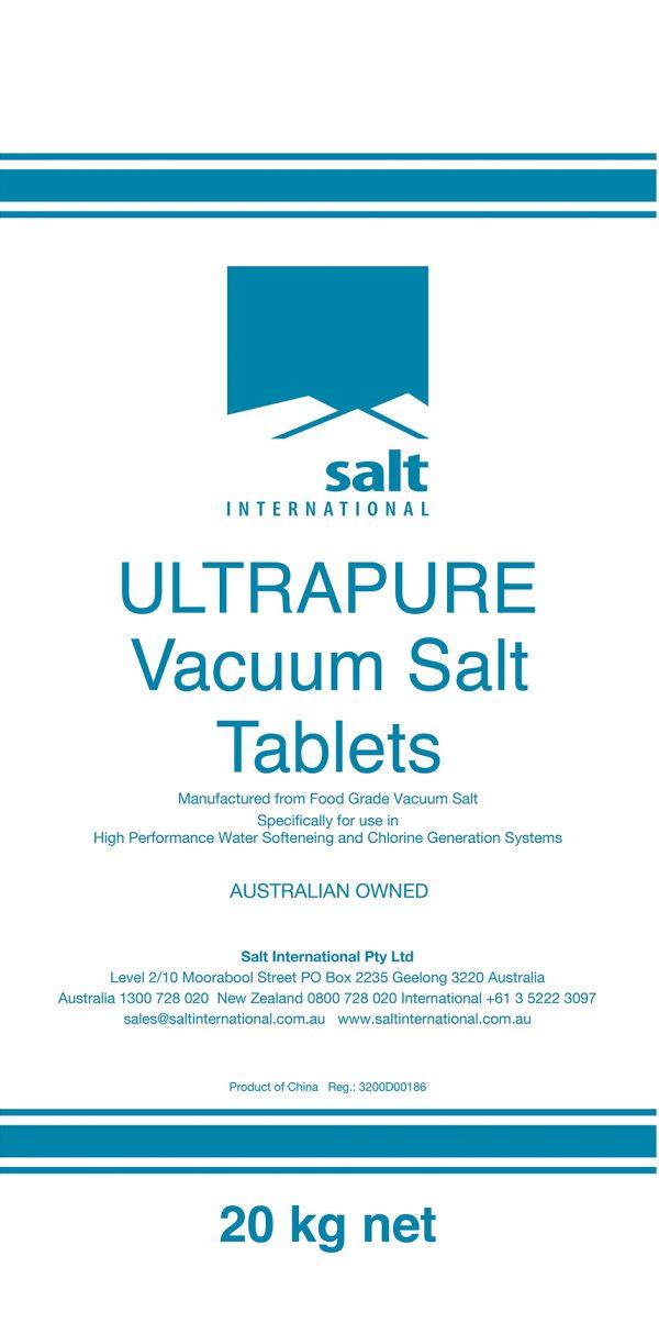 Ultrapure Tablet Salt Bag